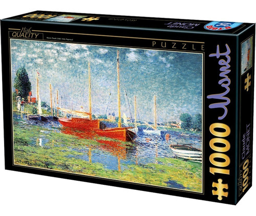 Rompecabezas 1000 Piezas  Monet, Los Botes Rojos, Argenteuil