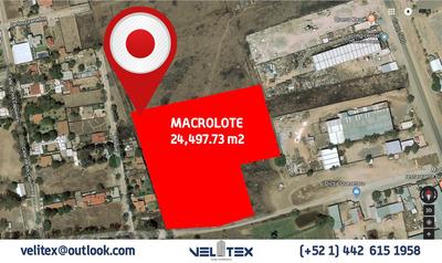 Macrolote Habitacional De 24,497.73 M2.