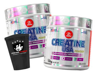 2 Creatina Powder Usa 100g Midway + Brinde + Com Nf-e