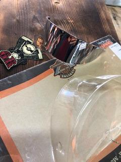 Harley Blakc 7 Visor Del Faro Delantero