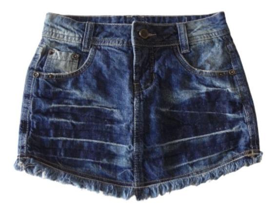 Saia Jeans Juvenil Bambine 10 A 16 Anos