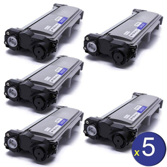 Kit Com 5 Toner Compativel Brother Tn2370 Tn2340 Tn660 L2540