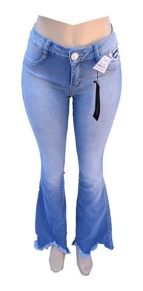 Calça Jeans Feminina Empório Flare Com Lycra - Ee3534
