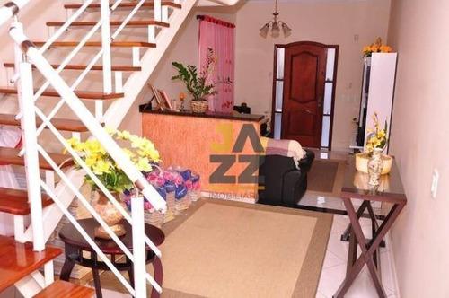 Bela Casa Com 4 Dormitórios À Venda, 192 M² Por R$ 440.000 - Loteamento Planalto Do Sol - Santa Bárbara D'oeste/sp - Ca13781