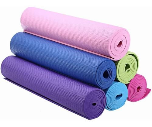 Imagen 1 de 2 de Mat De Yoga Colchoneta Fitnes 6mm En Variedad De Colores