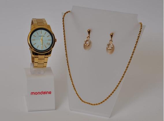Kit Relógio Mondaine Feminino 53636lpmvde1