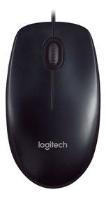 Kit 10und Mouse Óptico Logitech M90 Usb Preto 1000dpi