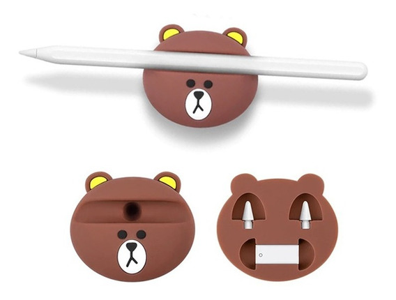 Base Para Apple Pencil Geração 1 E 2 Urso Rilakkuma iPad Pro