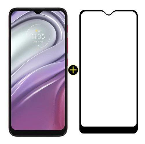 Imagem 1 de 9 de Kit Celular Moto G20 Pink 64gb Tela 6.5 E Pelicula