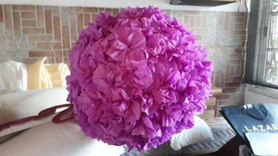 Esferas De Flores De Papel Crepe De 30 Cm De Diámetro.