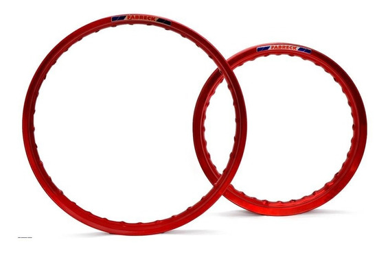 Par Aro Moto Alumínio Vermelho Vitral Titan Fan 125/150