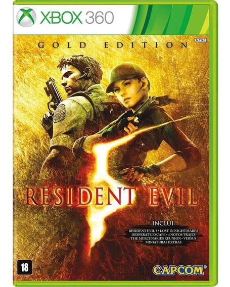 Xbox 360 Resident Evil 5 Gold Edition Mídia Física Lacrado