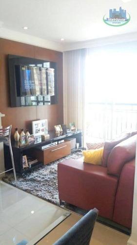 Apartamento Com 2 Dormitórios À Venda, 51 M² Por R$ 315.000 - Vila Augusta - Guarulhos/sp - Ap0911