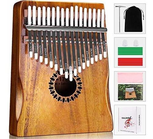Kalimba Piano Pulgar 17 Teclas, Portátil Mbira Finger Piano