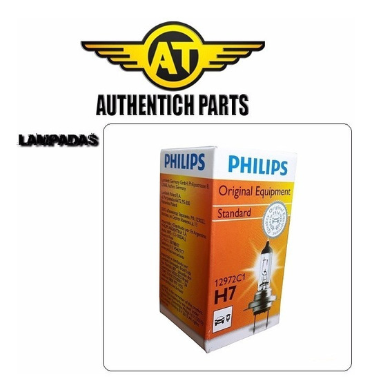 Lampada Philips Standard H7 Peugeot 207 1.4 8v 08 A 12 - Lampada Do Farol Baixo