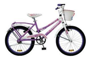 Bicicleta Infantil Rod 20 Niñas (lady20) Canasto Accesorios