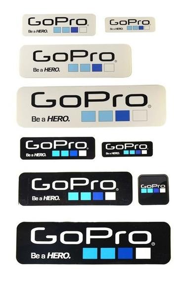Cartela De Adesivos Gopro Hero 1 2 3 3+ 4 5 Kit (6 Unidades)