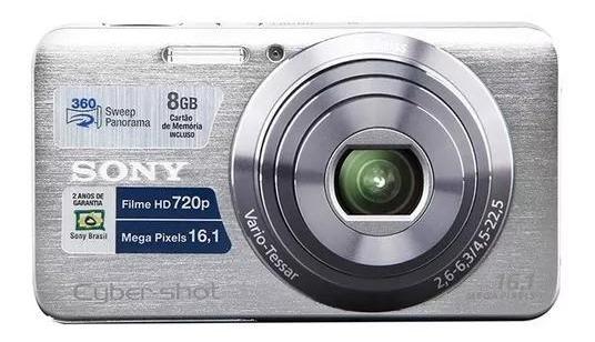 Câmera Cyber Shot 16.1mp Prata Super Nova (usada Poucas Vezes)