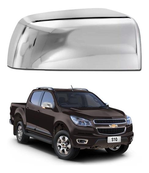 Aplique Capa De Retrovisor Cromado Chevrolet S10 2012 2013 2014 2015 2016 Lado Direito Shekparts