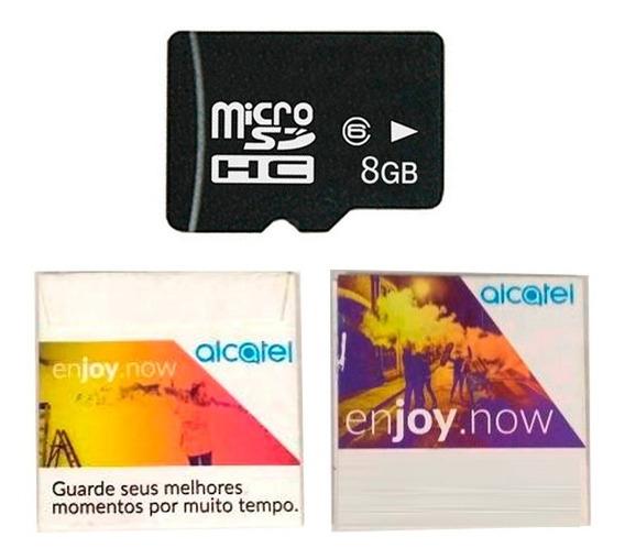 Kit 05 Cartão De Memória Alcatel Micro Sd 8gb Frete Barato