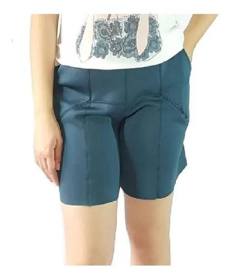 Shorts Bermuda Em Neoprene Slim Borda Barroca 51696