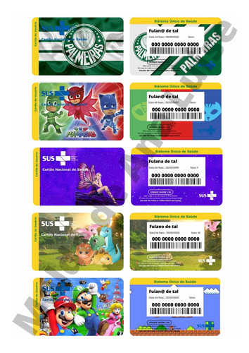 Cartões Sus Personalizados