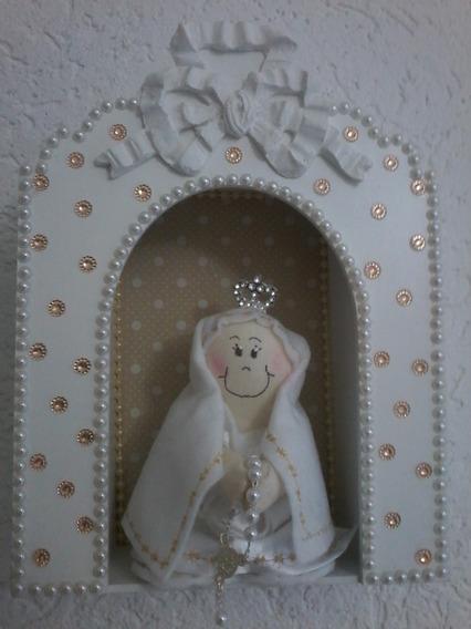 Capelinha Oratório Branco Com Mini Nossa Senhora De Fatima