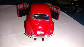 Miniatura Volks 1200 Ano 1967 Metal - Côr Vermelho