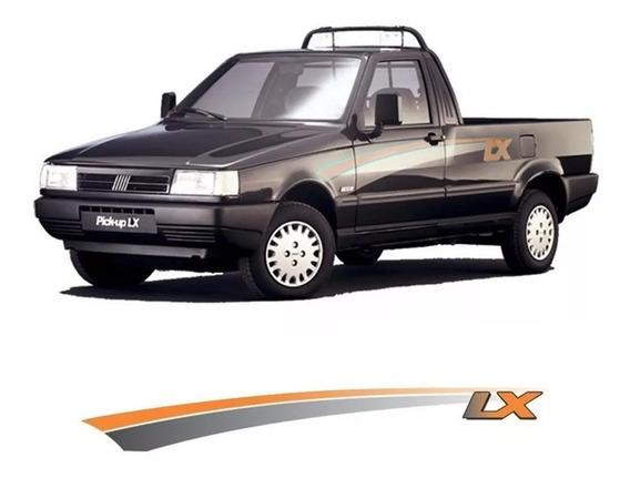 Kit Adesivos Laterais Fiorino Lx Pick-up Qualidade 3m Novo
