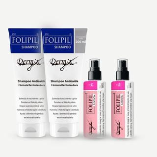 Pack 2 Folipil Loción + 2 Folipil Shampoo Anticaida