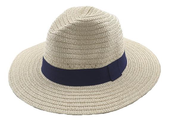 Sombrero Simil Panama C/cinta Adultos Unisex Art: 290103