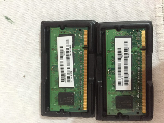 Memória Ram Ddr2 Pc2 5300 667 Mhz 1 Gb 2x512 Mb P/notebooks