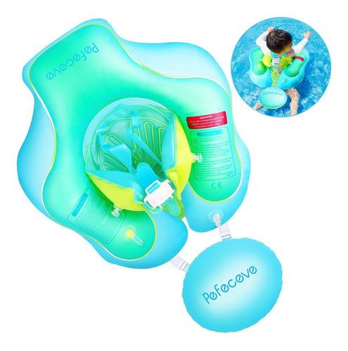 Imagen 1 de 7 de Pefeceve Flotador Inflable Para Piscina Para Bebes, Con Cert