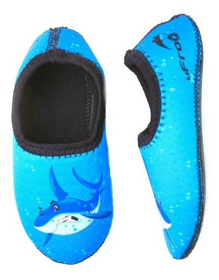 Sapatilha Neoprene Ufrog Air Infantil Tubarão