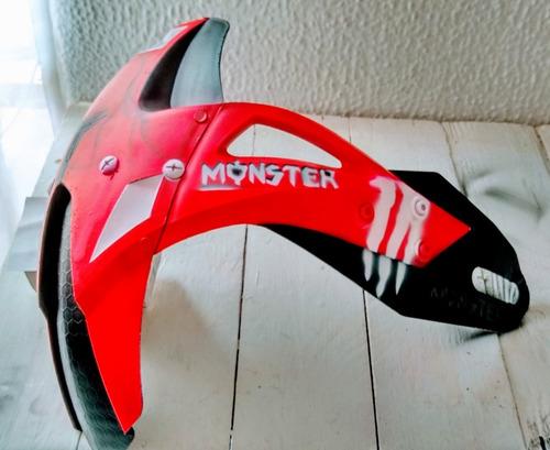 Imagen 1 de 2 de Guardabarros Moto Generico  - Monster Energy Red