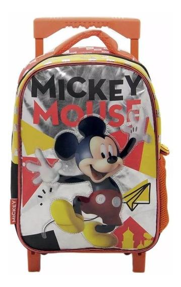 Mochila Mickey Km032 12 Pulg. C/carro Crezko