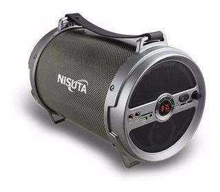 Parlante Portatil Bluetooth Radio Fm Usb Nisuta Ns-pa12