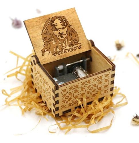 Caja Musical De Madera Piratas Del Caribe - Jack Sparrow