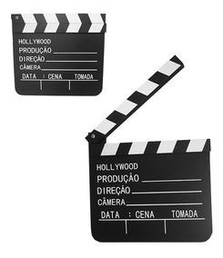 Claquete Português Para Estúdio De Cinema 30x28,5cm Grande
