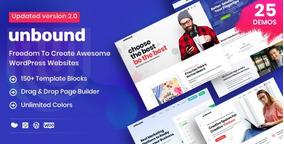 Tema Unbound| Multifuncional Para Agência De Negócios