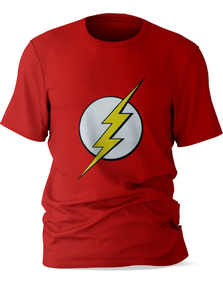 Playera Niño Manga Corta Diseño The Flash Algodón