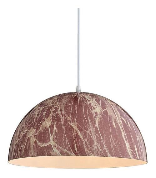 Lámpara Decorativa Colgante Color Mármol Rojo