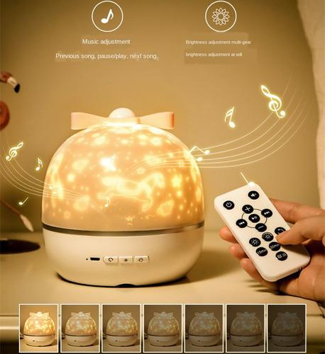 Lámpara Led Proyector Luz Nocturna Bluetooth Caja De Música