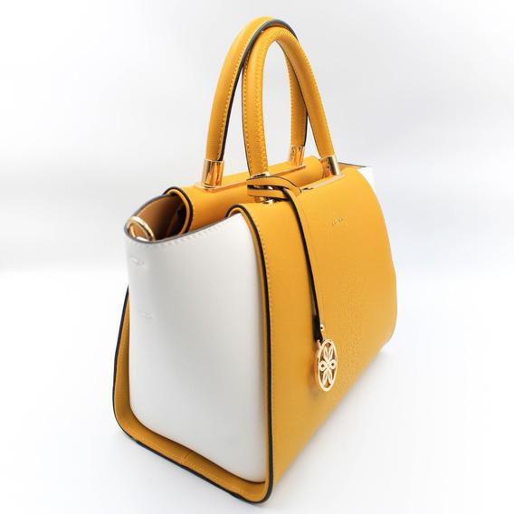 Bolsa Feminina Fiore F8057 - Amarelo/branca