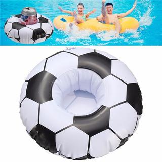 Kit 15 Boias Porta Copos Bolas De Futebol Flutuador