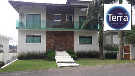 Casa Com 4 Dormitórios À Venda, 550 M² Por R$ 2.190.000 - Golf Village - Granja Viana - Ca2027