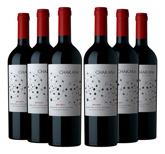Vino Tinto Malbec Por Caja Chakana Estate Organico (6x750 Ml