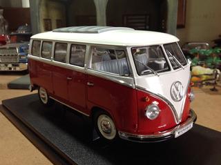 Miniatura Welly 1/18 Volkswagen Kombi Microbus 1962 - Linda!