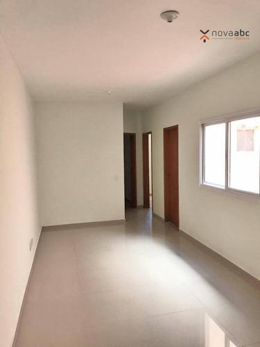 Apartamento Com 2 Dormitórios À Venda, 49 M² Por R$ 260.000,00 - Vila Camilópolis - Santo André/sp - Ap0968