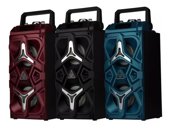Caixa De Som Potente Portátil E Com Bluetooth A7099